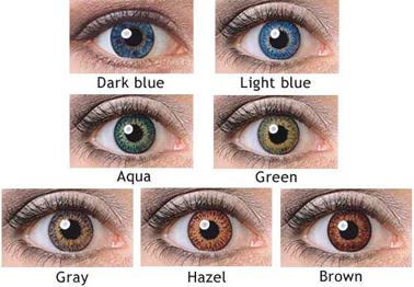 farvede linser med styrke